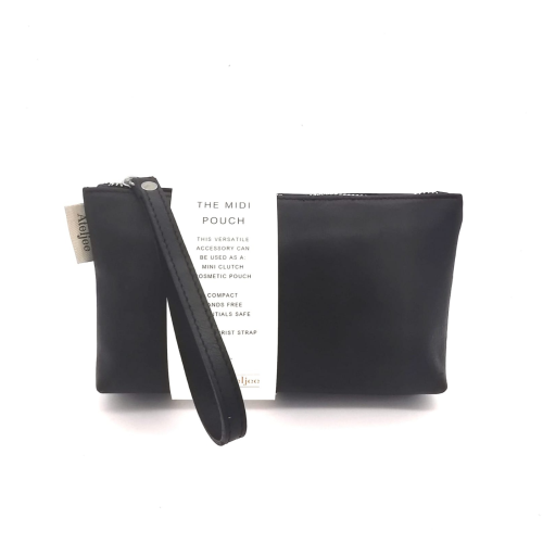 Midi-Pouch Leather - 2020 Summer / Diesel Black
