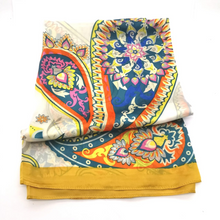 Load image into Gallery viewer, Silky scarf - Border paisley print