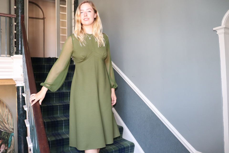 Ethically Made Wool Crepe Cocktail Dress