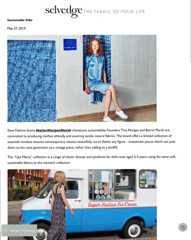 Selvedge Magazine specialise in fabrics and reviewed our sustainable collection