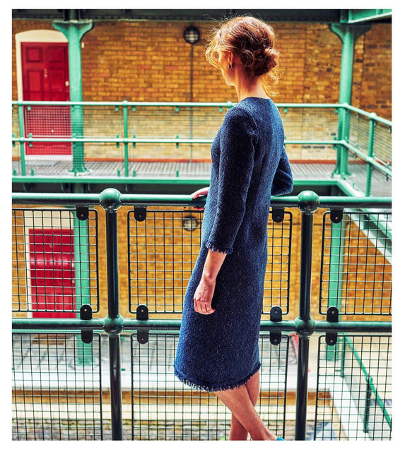 Ethically made cotton tweed dress by sustainable fashion brand Atelier MorganMarsh