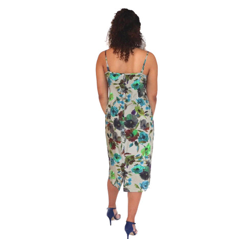 ethically made floral slip dress