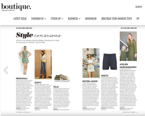Sustainable Fashion Brand Atelier MorganMarsh appeared in Boutique Magazine.
