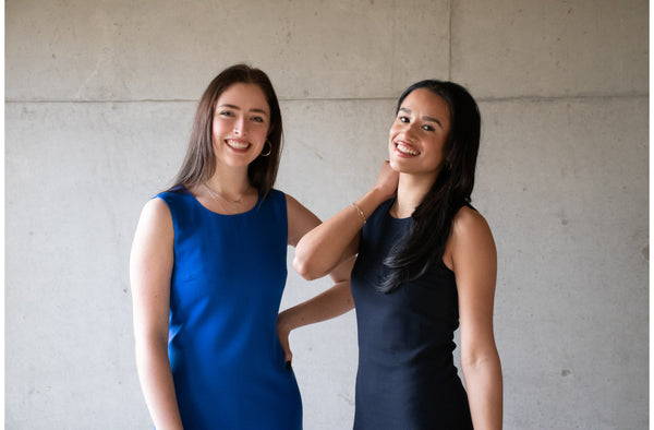 Wool Crepe Royal Blue and navy Shift Dresses lined with pure silk