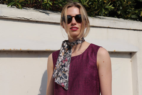 Ethically made butterfly scarf by sustainable fashion brand Atelier MorganMarsh