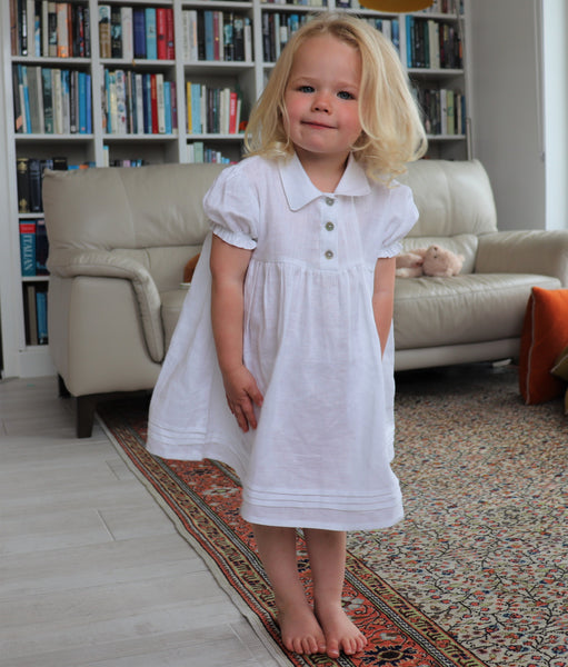 Child's white linen nightdress