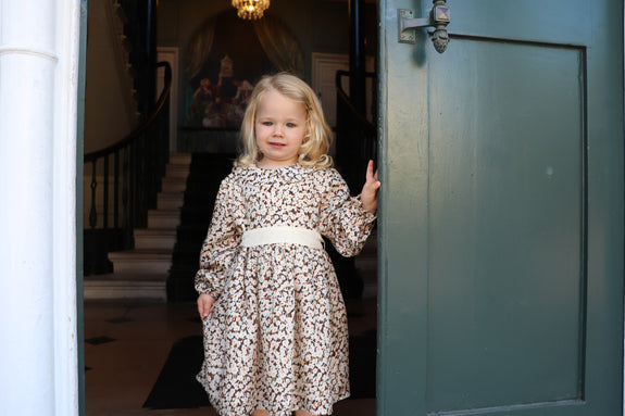 Vegan Silk Children's long sleeves dress ethically made by sustainable fashion brand Atelier MorganMarsh