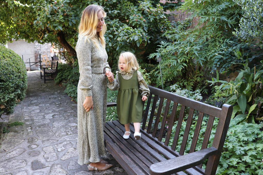 Mother and daughter can  coordinate in the same fabric. Like mama collection by sustainable and ethical fashion brand Atelier MorganMarsh