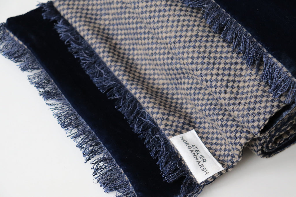 ethically made wool?cashmere scarf by sustainable fashion brand Atelier MorganMarsh