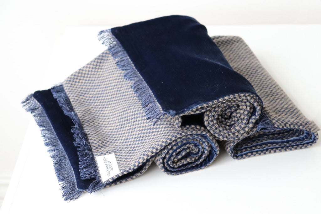 ethically made wool/cashmere scarf