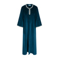 Ethically made cotton velvet kaftan