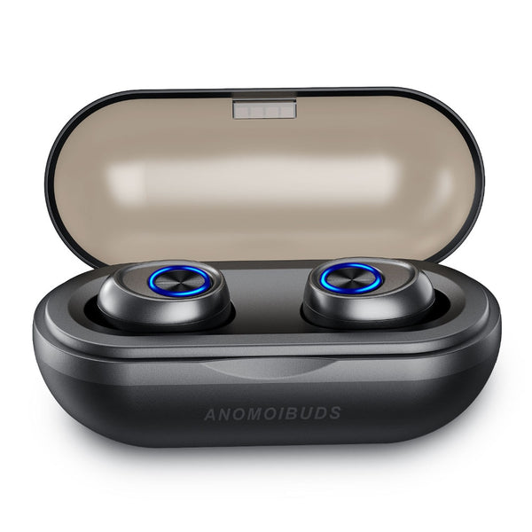 Anomoibuds Capsule Bluetooth Earbuds 5.0 TWS Wireless Headsets Mini Earphones HiFi Sound Sport Waterproof HD MIC Handsfree