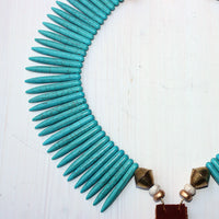 Crescent with Star and Turquoise