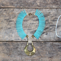 Eclipse Horse Brass Necklace