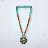 Star Clover Design with Mustard, Orange Coral, and Turquoise