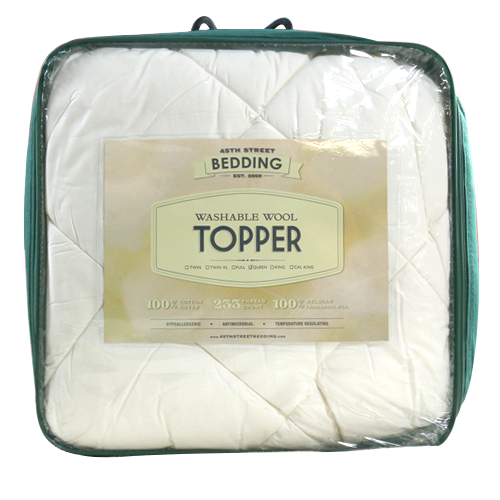 Washable Wool Mattress Topper