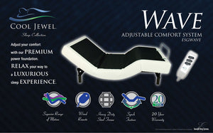 Wave Adjustable Bed Base with Wired