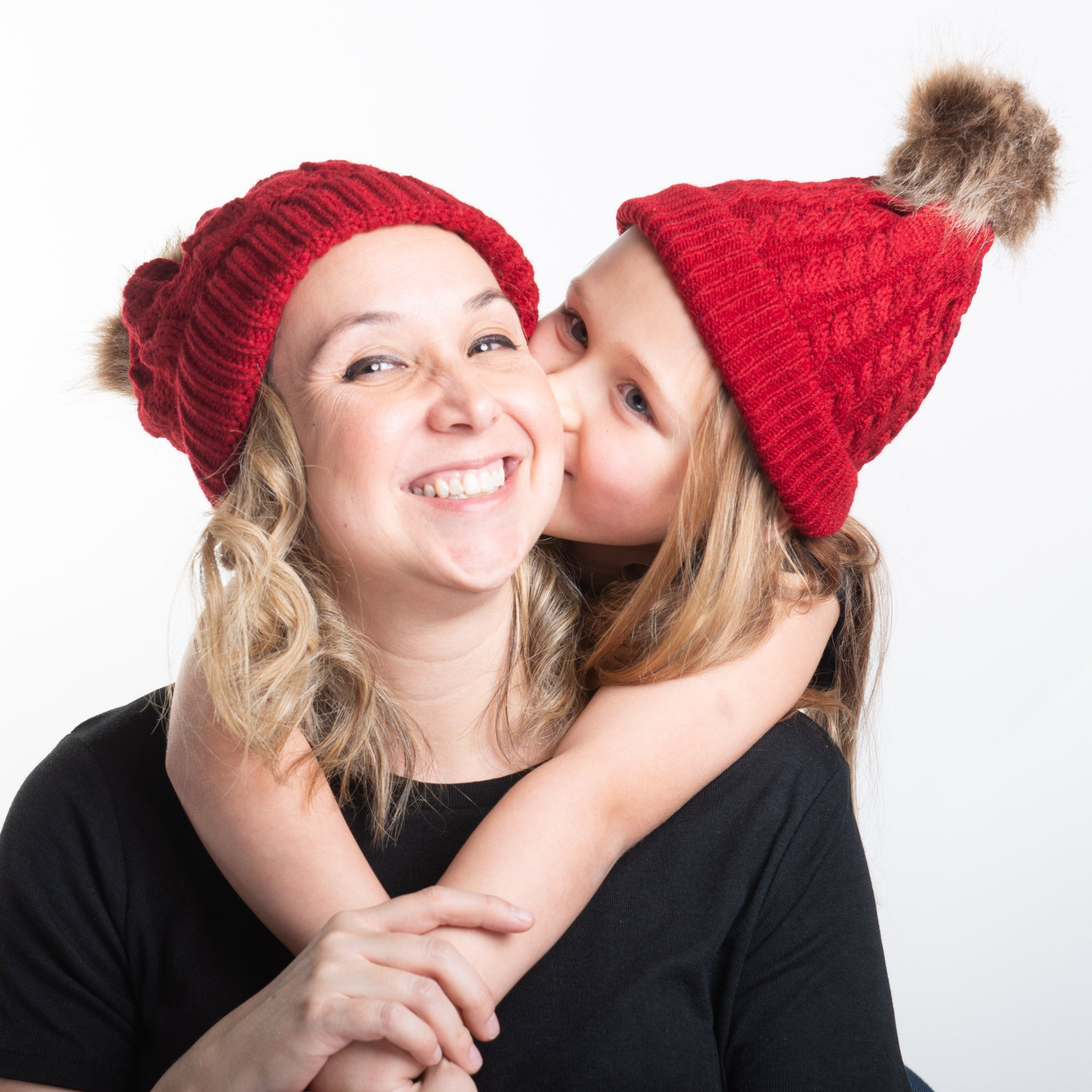 Mother and Child Bobble Hats