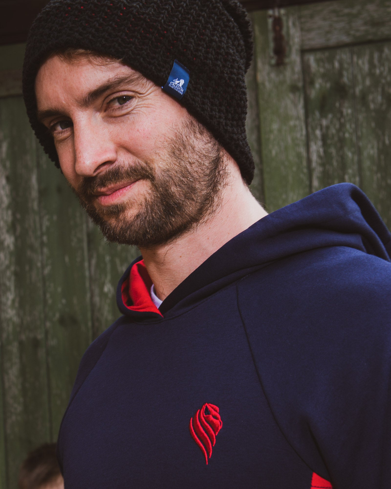 Mens Navy and Red Hoodie