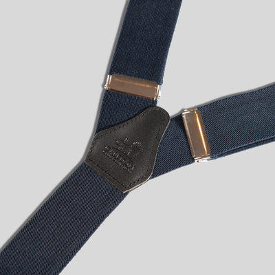 Boys Navy Blue and Black Braces