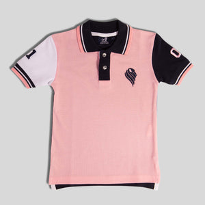 Mens Pink and Navy Polo Shirt