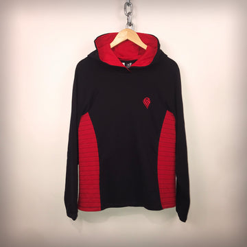 Mens Navy and Red Contrast Hoodie