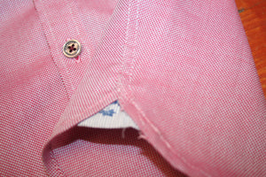 Boys Oxford Pink Cotton Short Sleeve Shirt