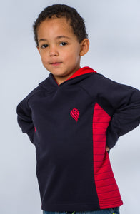 Boys Navy and Red Hoodie