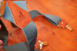 Father and Son matching Brace Set - Blue and Brown