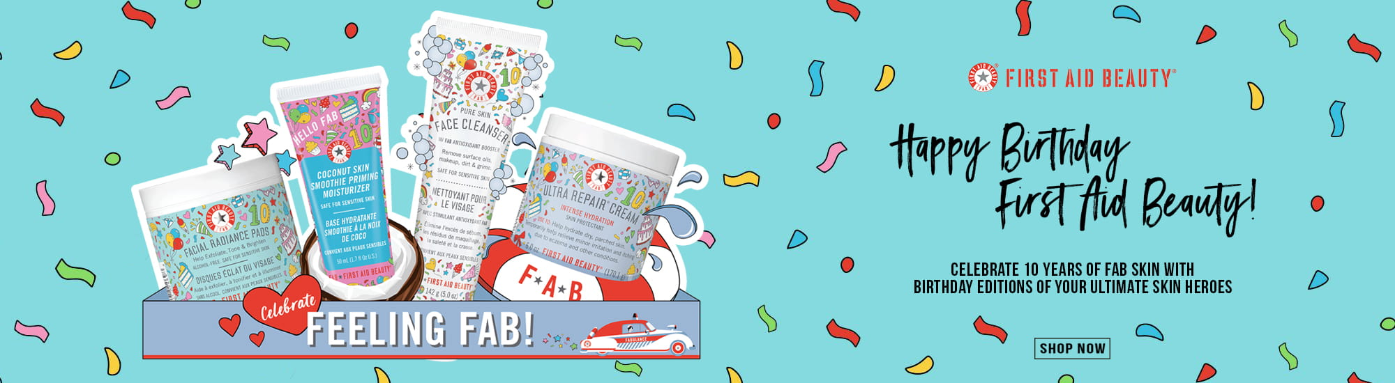 First Aid Beauty Skincare birthday editions | FAB Skincare