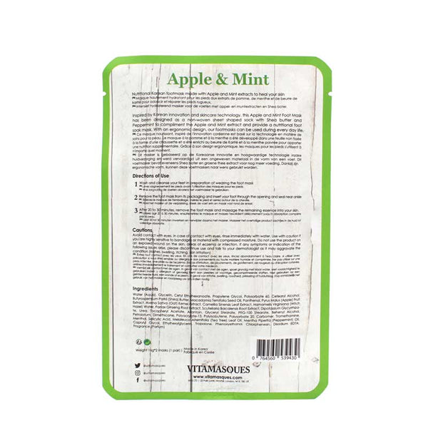 Vitamasques Apple & Mint Foot Mask