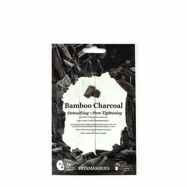 Vitamasques Bamboo Charcoal - Detoxifying & Pore Tightening