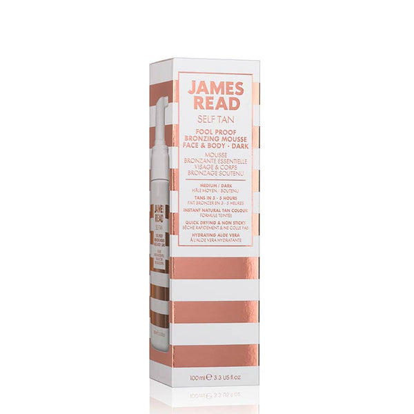 James Read Fool Proof Bronzing Mousse Face & Body - Dark - Packaging