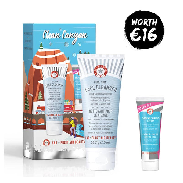 First Aid Beauty Clean Canyon Gift Set - Pure Skin Face Cleanser and Hello FAB Coconut Water Cream