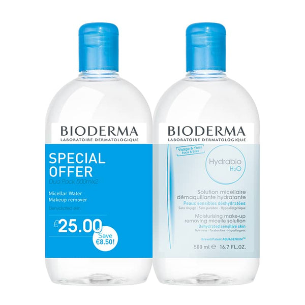 Hydrabio H2O Micelle Solution - Special Offer Duo 2 x 500ml | Micellar Water for Dry Sensitive Skin