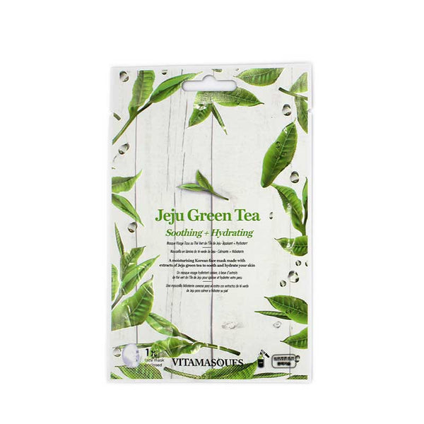 Vitamasques Jeju Green Tea Soothing & Hydrating Sheet Mask