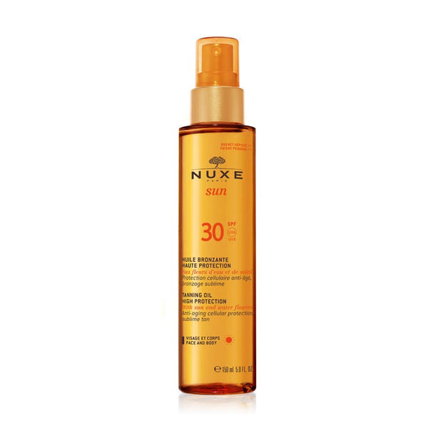 NUXE Sun Tanning Oil for Face & Body SPF30