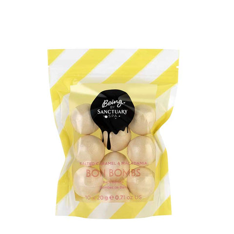 Being by Sanctuary Salted Caramel & Macadamia Bon Bomb Bath Bombs