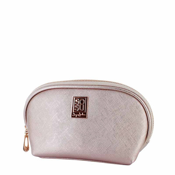 SOSU by Suzanne Jackson Luxury Rose Gold Cosmetic Bag