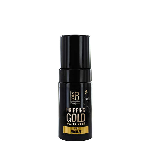 SOSU by Suzanne Jackson Dripping Gold Luxury Tanning Mousse - Dark | Travel Size Tan