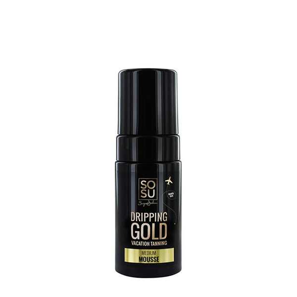 SOSU by Suzanne Jackson Dripping Gold Luxury Tanning Mousse - Medium | Travel Size Tan
