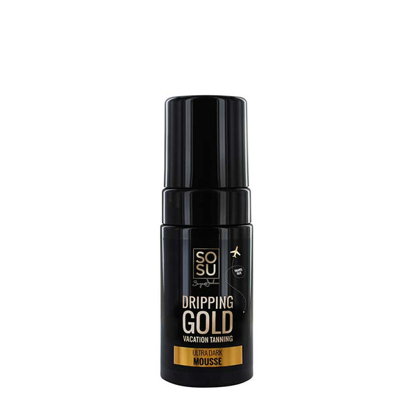 SOSU by Suzanne Jackson Dripping Gold Luxury Tanning Mousse - Ultra Dark | Travel Size Tan