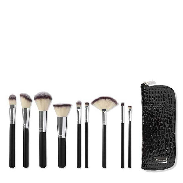 Morphe Set 502 - 9 Piece Deluxe Vegan Brush Set Inside