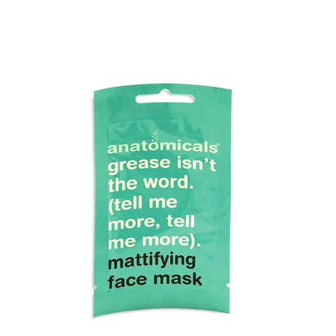 Anatomicals Grease Isn't The Word (Tell Me More, Tell Me More) Mattifying Face Mask