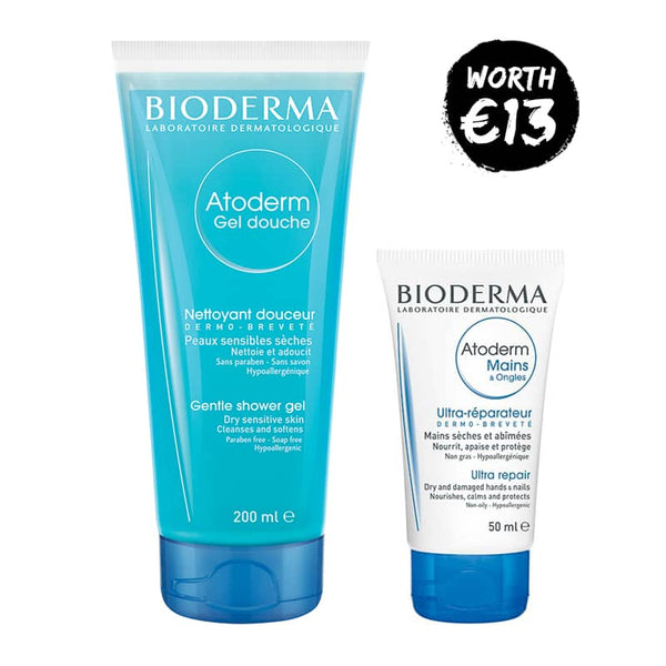 Bioderma Atoderm Shower Gel 200ml + Atoderm Hands & Nails 50ml