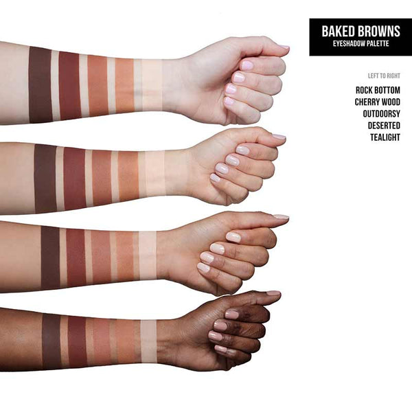 Dose of Colors Eyeshadow Palette - Baked Browns Swatches