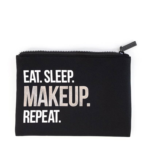Eat. Sleep. Makeup. Repeat. Makeup Bag