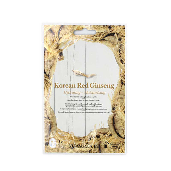 Vitamasques Korean Red Ginseng Hydrating & Moisturising Sheet Mask