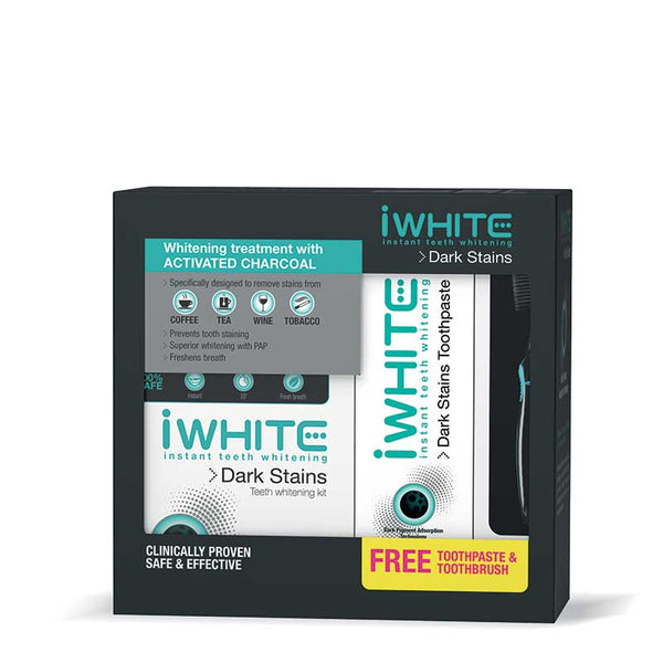 iWhite Dark Stains Kit with FREE Toothpaste & Toothbrush
