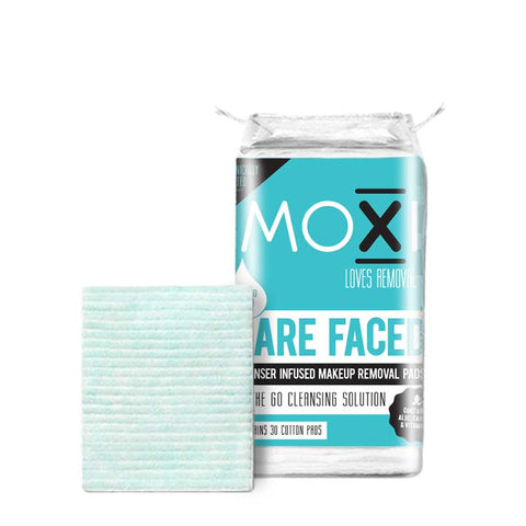 Moxi Loves Bare Faced Cleanser Infused Makeup Removal Pads